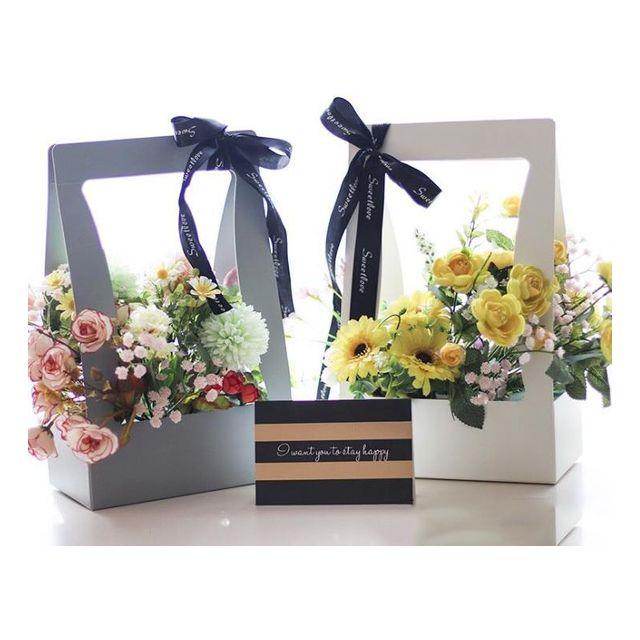 W 키밍 플라워 종이백 꽃포장 선물장식 리본 케이스