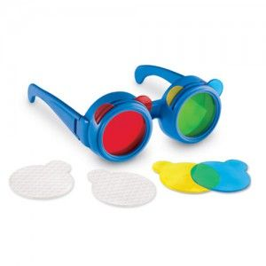 색혼합 컬러 안경 과학 장난감