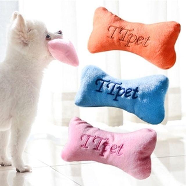 뼈다귀 향기봉제 장난감 색상임의 애견 강아지 장난감