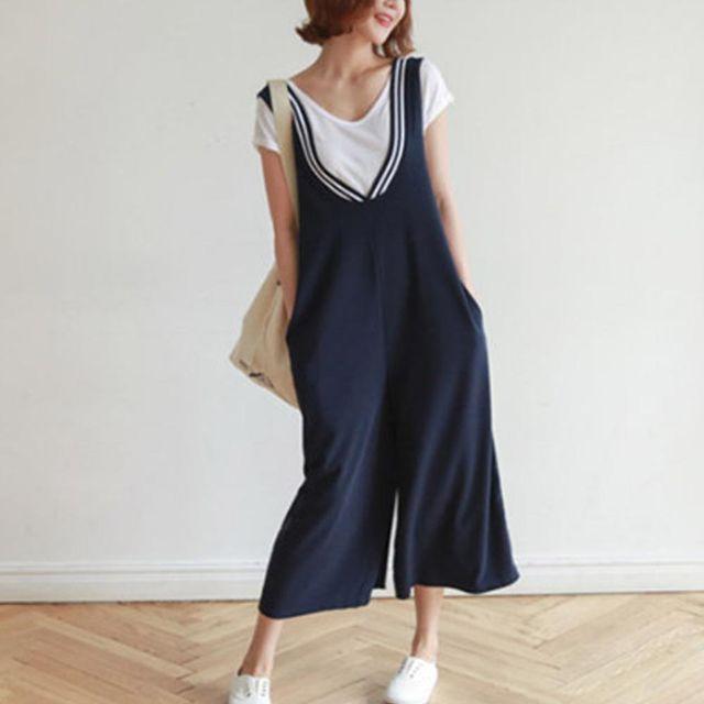 여름 점프수트 레이어드 여성 패션의류 귀여운 코디