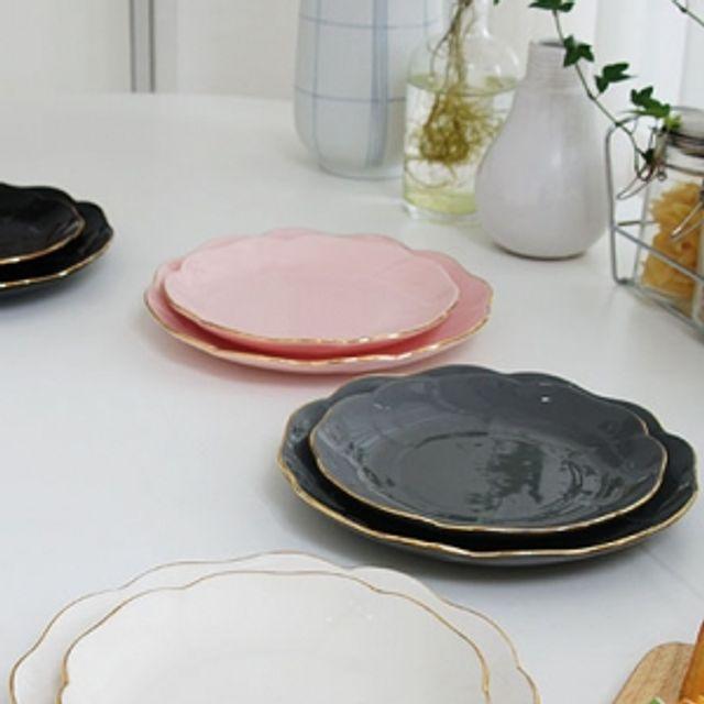에일린 골드링 플라워 접시 플레이팅 주방 식기