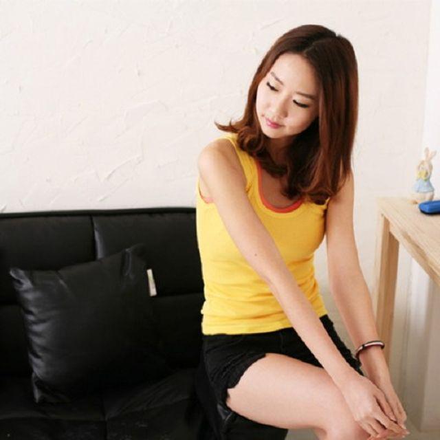 Sale 골지 베이직 기본 나시 여성 의류 민소매 셔츠