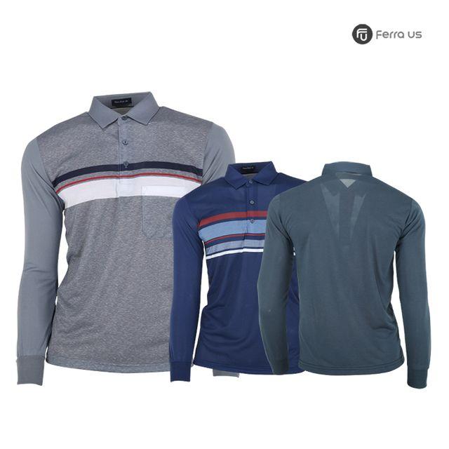 W TCC_페라어스 남성 골프 스판 디퍼런트 티셔츠 CTNE20