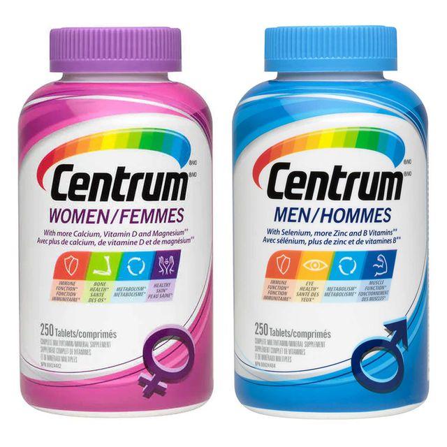 [해외] 캐나다 센트룸 남성 여성 종합비타민 250캡슐 2개세트