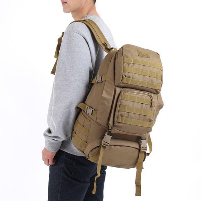 등산 가방 낚시 여행 서바이벌 전술 베낭 백팩 베이지