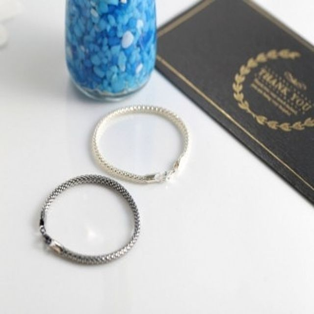 【韩国直邮】925银链条手链925(92.5 %)银色(重量3.2g)