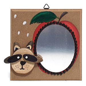 (미술재료)동물 거울 액자 만들기 너구리 5개묶음