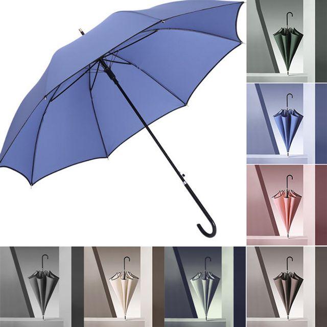 W 모던컬러 자동 장우산 곡자손잡이 자동우산 우산 양산