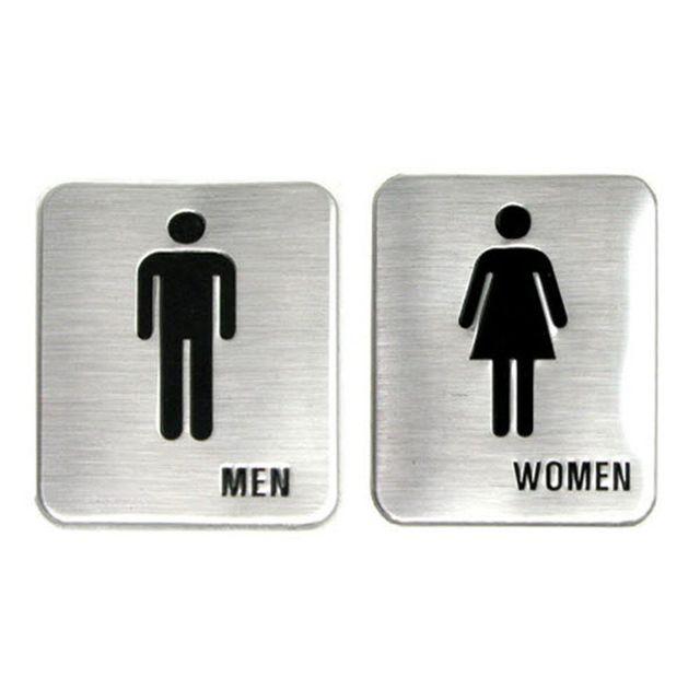 W 돔사인 표지판 남여화장실 표시 메탈 입체 음