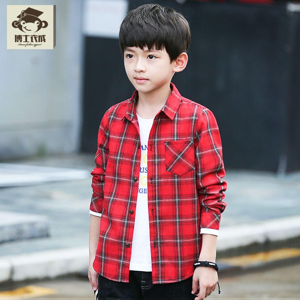 2628bf60140 [더산직구]어린이의류 소년 긴팔셔츠 가을 남아의류 체크셔츠/ 영업일