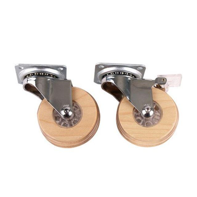 포윈바퀴-메이플 스톱 무소음 부드러운 DIY 바퀴