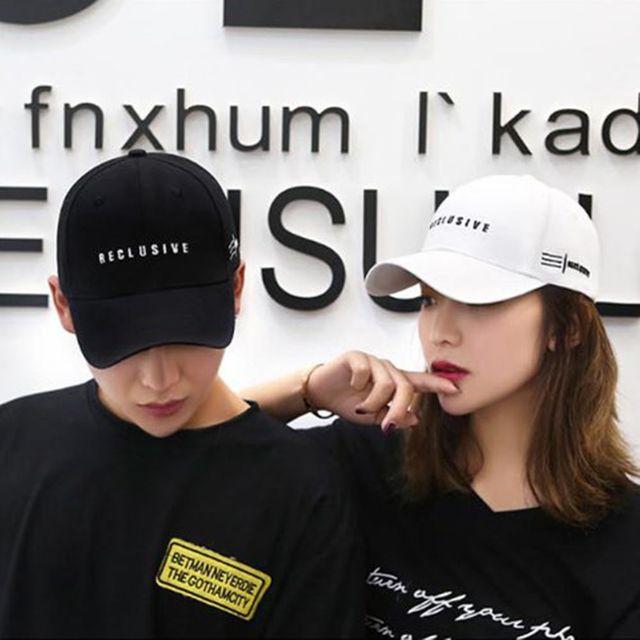 W 남녀 공용 커플 아이템 사이즈 조절 심플 모자 볼캡