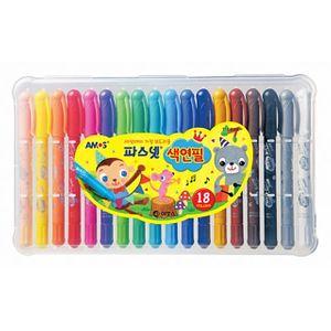 아모스)파스넷 색연필(18색)-박스(32개입)
