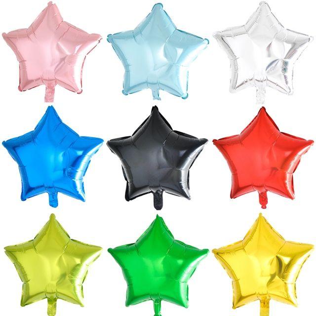 (10개묶음)45cm은박풍선별 파티장식 파티용품 호일풍선 풍선장식 홈파티 크리스마스장식 별모양 스타