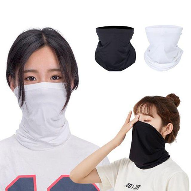 W 얇고 가벼운 여름 야외활동 필수품 냉감 마스크