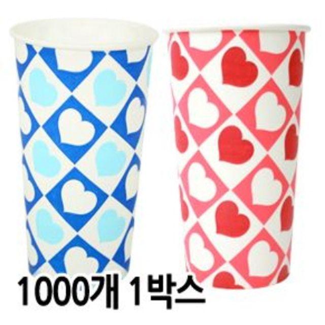 (9온) 슬러시컵_하트 1000개입(색상랜덤)