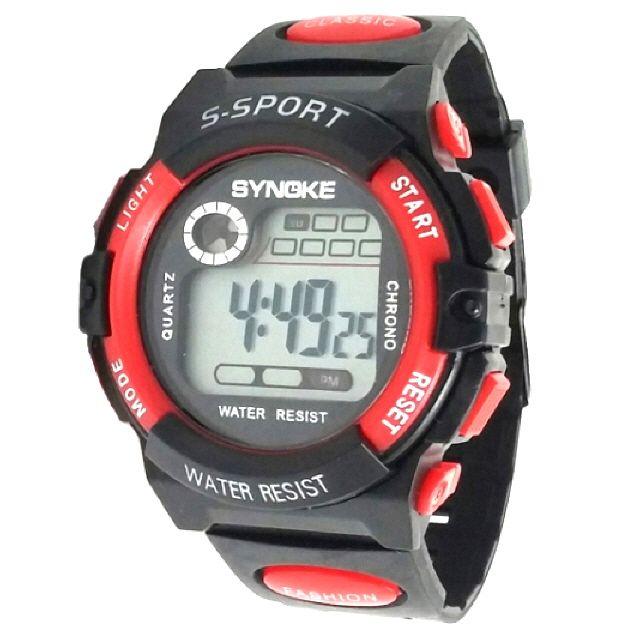 KW7102(빨강) 방수 전자 아동 손목 어린이 시계