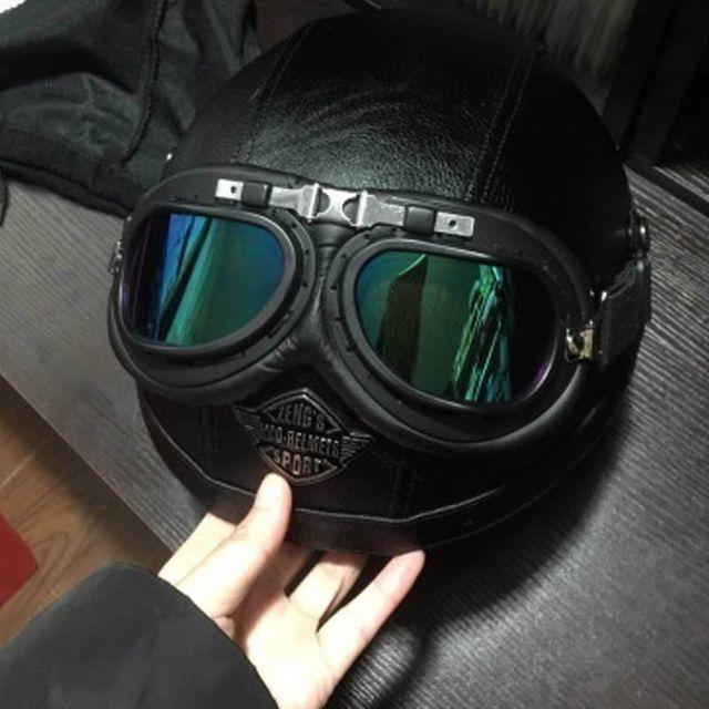 [해외] 사계절 남성과 여성 할리 복고풍 헬멧