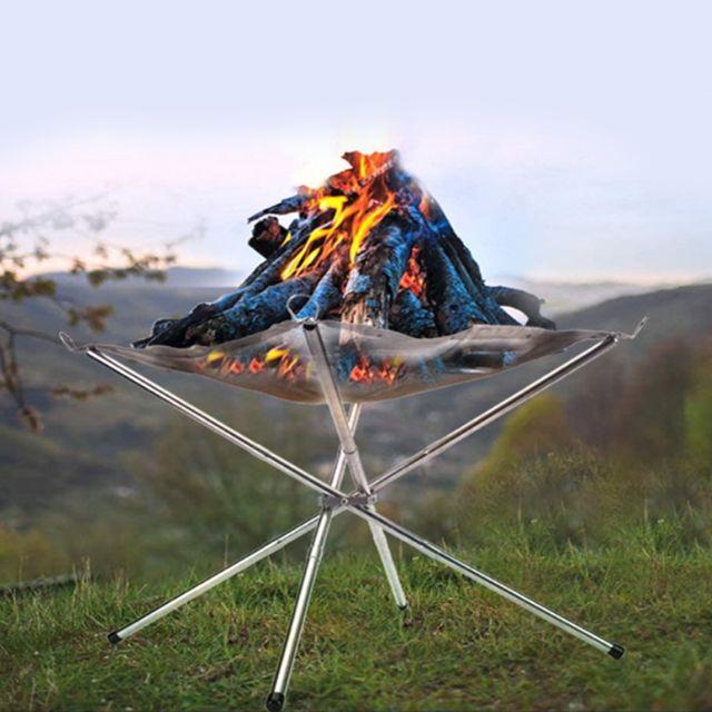W 키밍 다용도 야외 캠핑 숯 스토브 우드스토브 접이식
