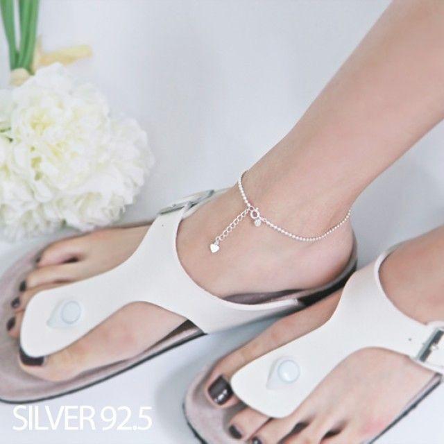 韩国直邮  秘密花园银色宝石链条、