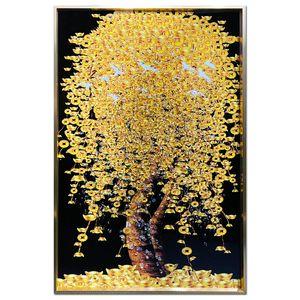 황금 돈나무 액자 비즈 그림 거실액자 ARTE02