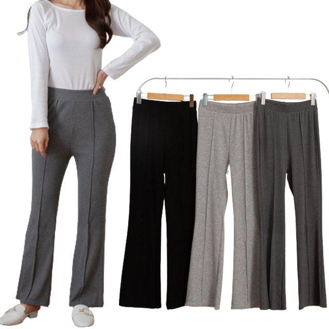 W 여자 트레이닝복 허리 밴딩 슬리핏 디자인 편한 팬츠
