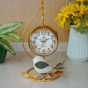 골드 새장식 스탠드 알람시계 인테리어 시계 탁상시계