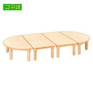 어린이 자작합판 안전 책상 원목다리 H1-1