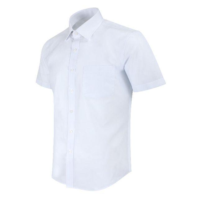반팔일반 솔리드 화이트 셔츠