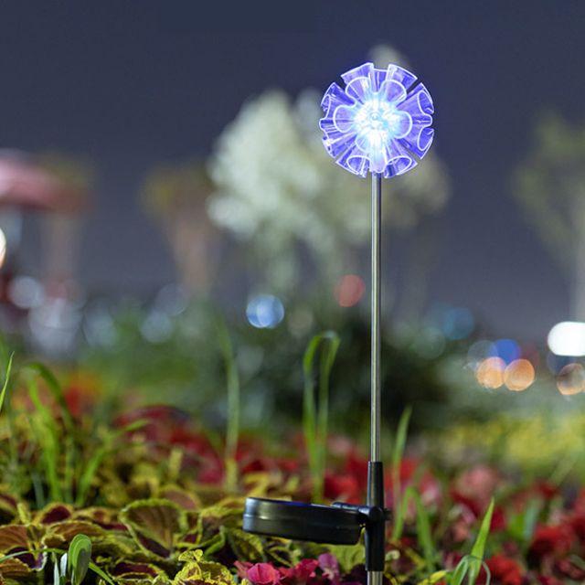 LED 태양광 정원등 조명 잔디등 전등 S970 꽃잎형