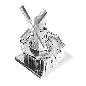 미니 메탈퍼즐 - 네덜란드 풍차 (실버)