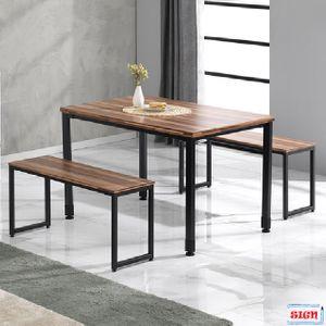 LPM상판 1200 일자철다리 테이블 4인식탁 G-355