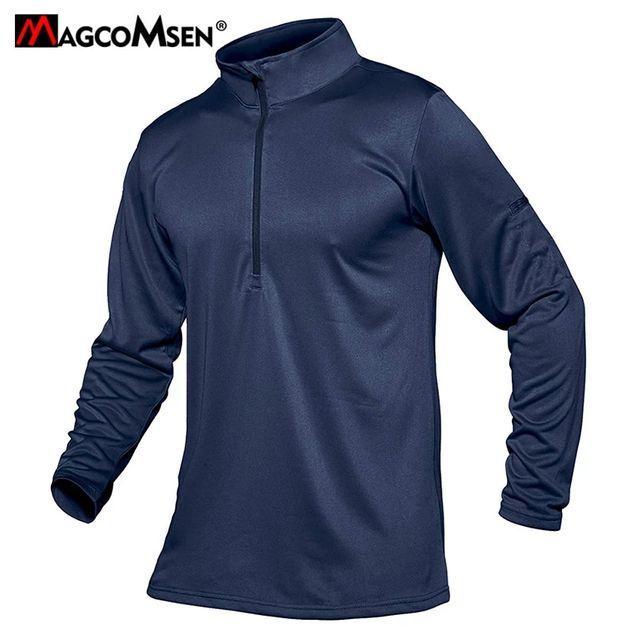 [해외] MAGCOMSEN 육군 스타일 T 셔츠 남성용 군용 긴팔 티셔