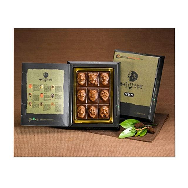 하회탈 수제초콜렛 탈놀이 상황버섯 추출물과 초콜렛의 환상적인 조합,간식,선물,특산품,과자,영양