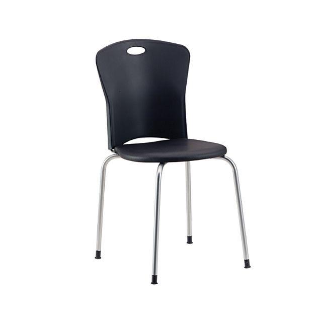 플라스틱 사출 쿠션 의자 블랙 회의 다용도 휴게실