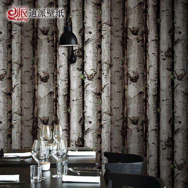 [해외] 실크벽지 빈티지 숲 나뭇
