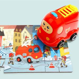 유아 그림 퍼즐 소근육 집중력 발달 놀이 소방차