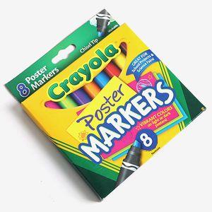 크레욜라 포스터 마커 색지전용 8색 마카 미술놀이