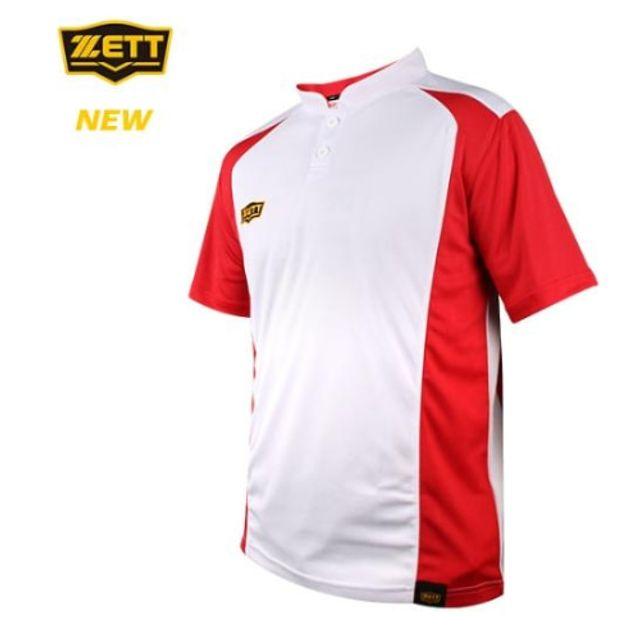 제트 ZETT 하계 티셔츠 화이트레드 야구유니폼 야구복