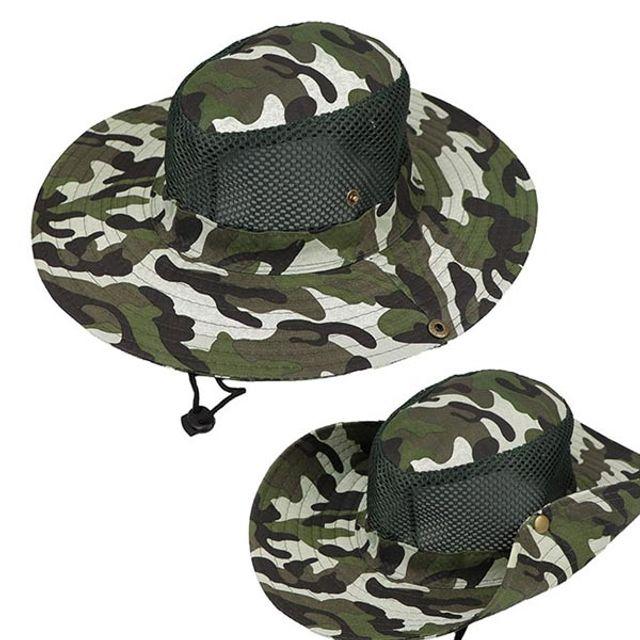 남자 여자 낚시 등산 레저 자외선차단 챙 모자 그린