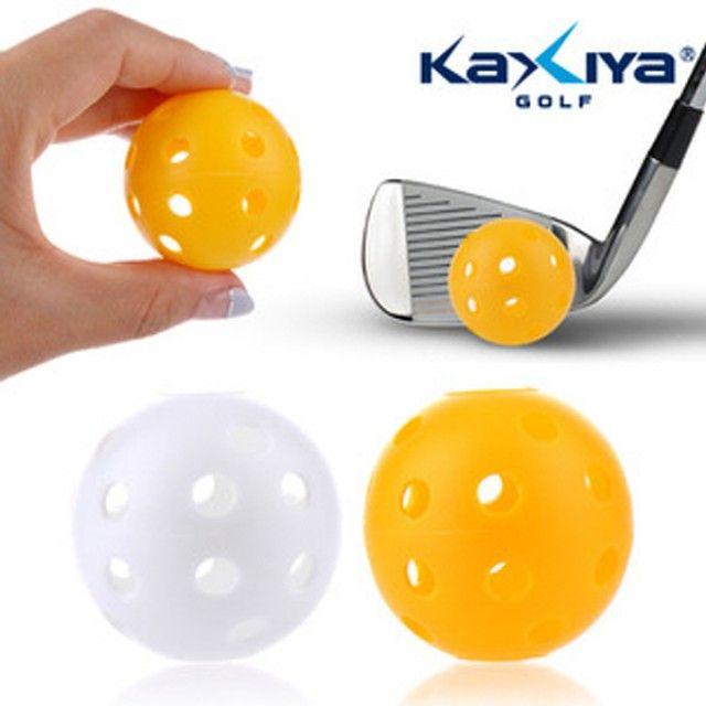 플라스틱구멍공(12개입) 골프연습볼 골프연습용품