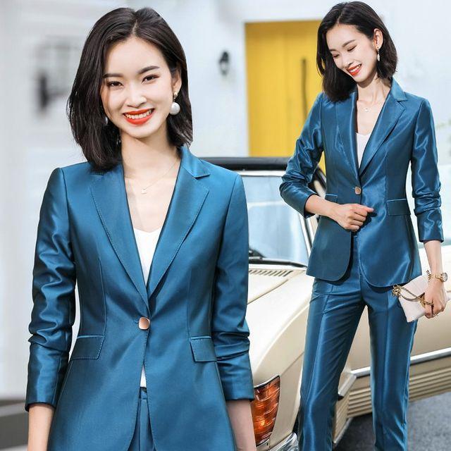 [해외] 여성 패션 재킷 자켓 정장세트정장 인터뷰 작업복
