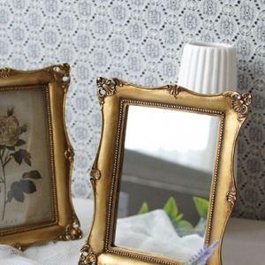 로렌 사각거울(골드) 화장대 테이블 미러 빈티지 소품