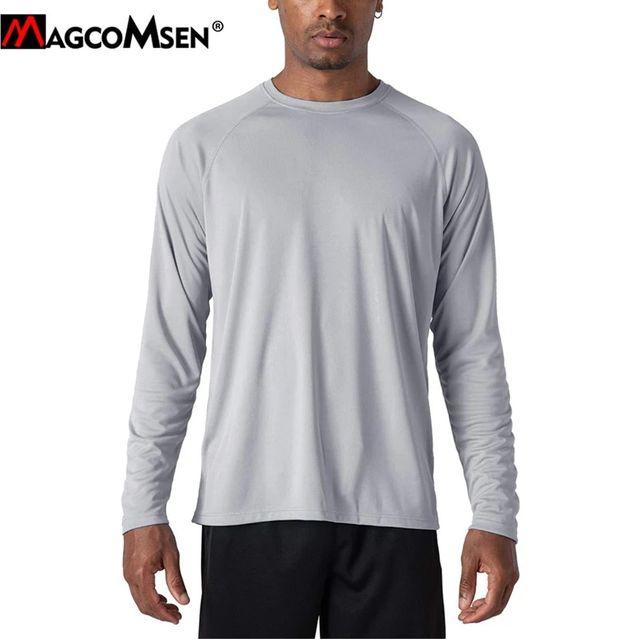 [해외] MAGCOMSEN 남자 자외선 차단 T 셔츠 UPF 50 UV 긴 소