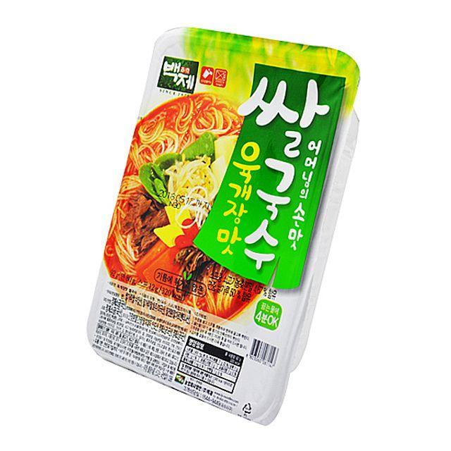 즉석 백제식품 육개장맛 쌀국수 92g X 30EA 1BOX,백제식품,즉석,육개장맛,쌀국수,92g