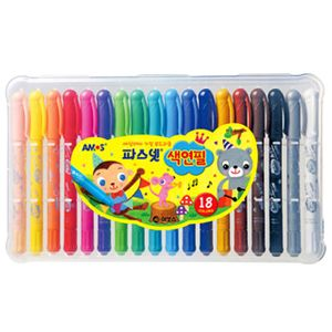 아모스 파스넷 색연필 18색 미술색연필 어린이색연필