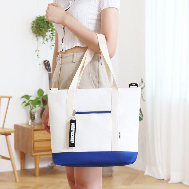 W 기본 스타일 디자인 여자 캐주얼 데일리 가방 에코백