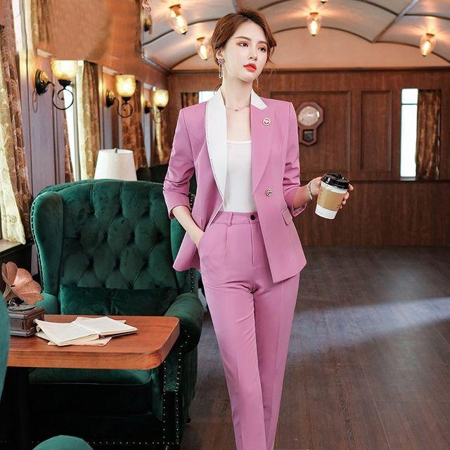 [해외] 여성 패션 재킷 자켓 정장세트 서양식 작은 정장