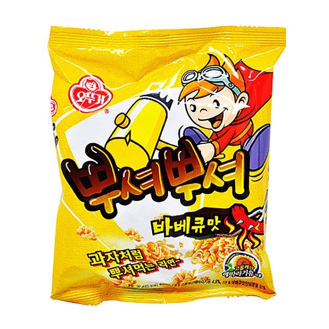 오뚜기 뿌셔뿌셔 바베큐맛 90g.,오뚜기,뿌셔뿌셔,바베큐맛,90g