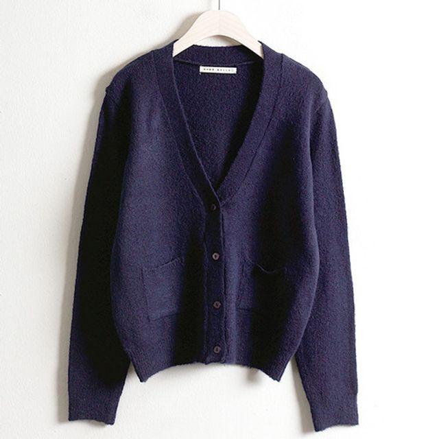 베이직 스판 미니 가디건 봄 가을 여성 데일리 패션